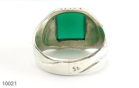 انگشتر عقیق سبز چهارگوش مردانه - تصویر 4
