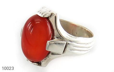 انگشتر عقیق قرمز خوش رنگ مردانه - عکس 1