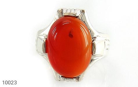 انگشتر عقیق قرمز خوش رنگ مردانه - عکس 3