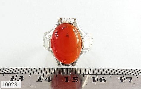 انگشتر عقیق قرمز خوش رنگ مردانه - تصویر 6