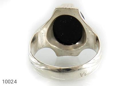 انگشتر عقیق سیاه خوش رنگ مردانه - تصویر 4