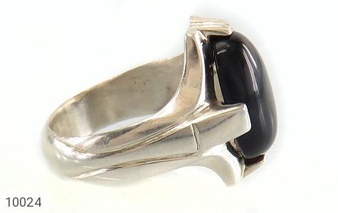 انگشتر عقیق سیاه خوش رنگ مردانه - تصویر 8