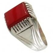 انگشتر عقیق سرخ طرح کلاسیک مردانه