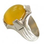 انگشتر عقیق زرد خوش رنگ شرف الشمس مردانه