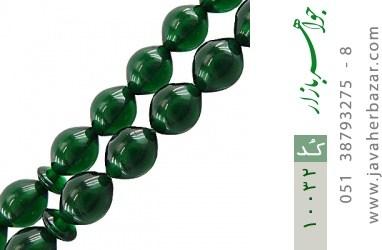 تسبیح سندلوس 33 دانه سبز کار ترک - کد 10032