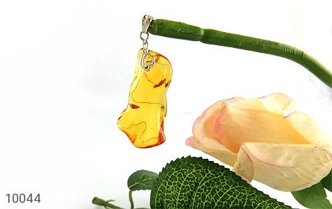 مدال کهربا بولونی لهستان حشره ای تراش طبیعی سایز درشت - تصویر 4