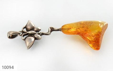 مدال کهربا بولونی لهستان حشره ای آویز طرح پروانه زنانه - تصویر 2
