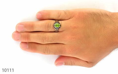انگشتر زبرجد خوش رنگ مرغوب مردانه - عکس 7