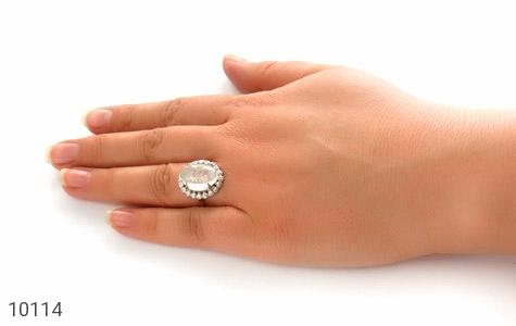 انگشتر دُر نجف درخشان و درشت زنانه - عکس 7