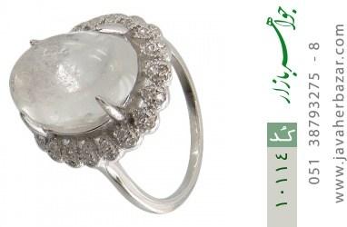 انگشتر دُر نجف درخشان و درشت زنانه - کد 10114