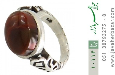 انگشتر عقیق یمن رکاب دست ساز - کد 10116
