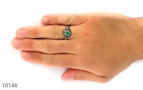 انگشتر زمرد خوش رنگ جذاب مردانه - عکس 7