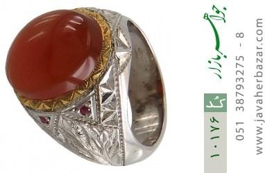 انگشتر یاقوت و عقیق یمن هنر دست استاد آهنگر - کد 10176