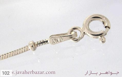 زنجیر نقره ایتالیایی - عکس 1
