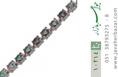 دستبند توپاز هفت رنگ طرح نگین زنانه - کد 10214