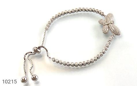 دستبند نقره طرح پروانه زنانه - عکس 1