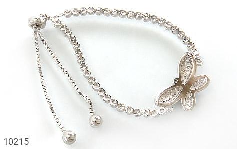 دستبند نقره طرح پروانه زنانه - تصویر 2