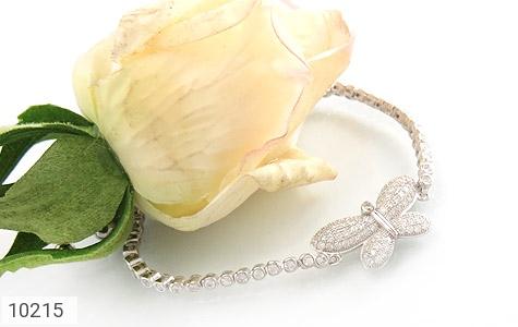 دستبند نقره طرح پروانه زنانه - تصویر 4