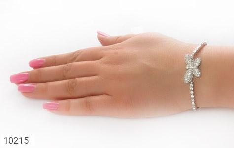 دستبند نقره طرح پروانه زنانه - تصویر 6
