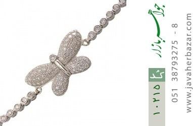 دستبند نقره طرح پروانه زنانه - کد 10215