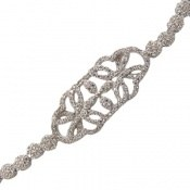 دستبند نقره درشت طرح پرنسس زنانه