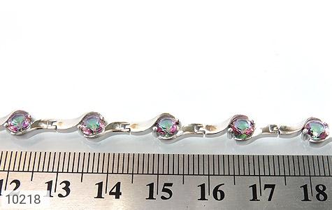 دستبند توپاز هفت رنگ طرح افسون زنانه - تصویر 6