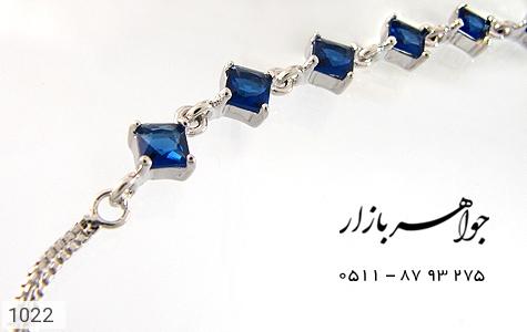 دستبند نقره آب رودیوم سفید زنانه - تصویر 2