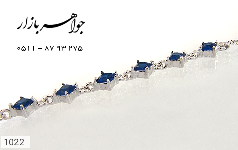 دستبند نقره آب رودیوم سفید زنانه - تصویر 4