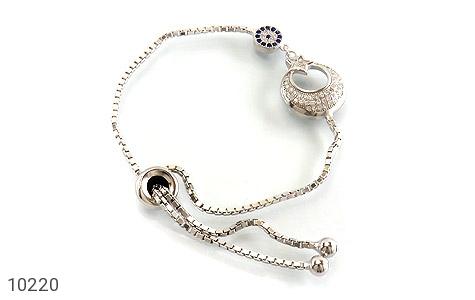 دستبند نقره طرح ماه و ستاره زنانه - عکس 1