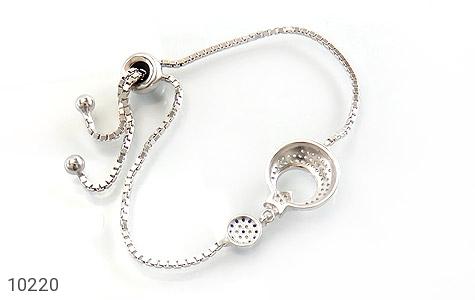دستبند نقره طرح ماه و ستاره زنانه - تصویر 2