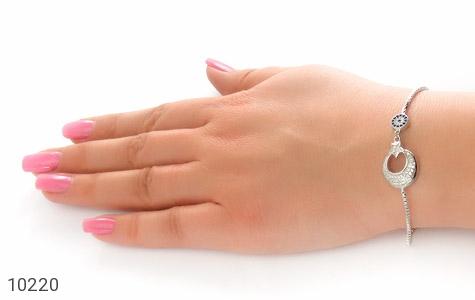 دستبند نقره طرح ماه و ستاره زنانه - تصویر 6