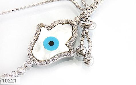 دستبند نقره چشم زخم درشت زنانه - تصویر 2