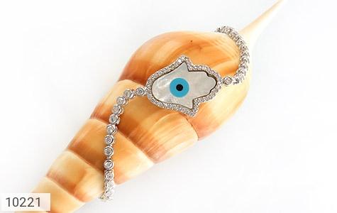 دستبند نقره چشم زخم درشت زنانه - عکس 3