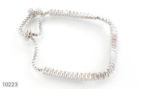 دستبند نقره آب رودیوم طرح کلاسیک زنانه - عکس 1