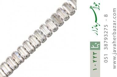 دستبند نقره آب رودیوم طرح کلاسیک زنانه - کد 10223