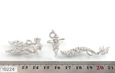سرویس نقره مجلسی طرح جواهرنشان زنانه - تصویر 8