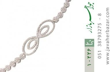 دستبند نقره مجلسی طرح دلبر زنانه - کد 10226