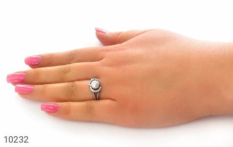 انگشتر مروارید طرح یگانه زنانه - عکس 7