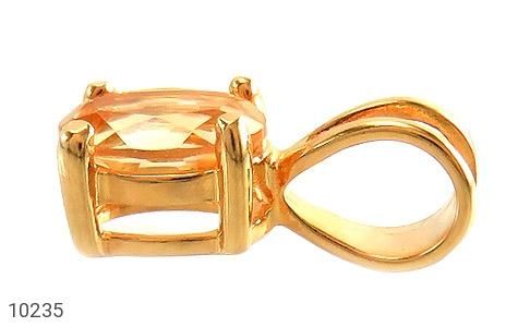 مدال سیترین مرغوب و خوش رنگ زنانه - تصویر 2