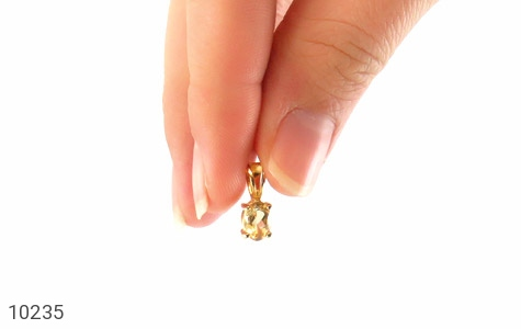 مدال سیترین مرغوب و خوش رنگ زنانه - تصویر 6