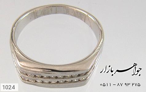 انگشتر نقره آب رودیوم سفید - تصویر 4