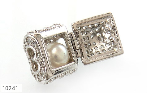 مدال مروارید طرح صندوق جواهرات قلب - عکس 3