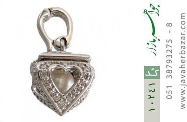 مدال مروارید طرح صندوق جواهرات قلب - کد 10241