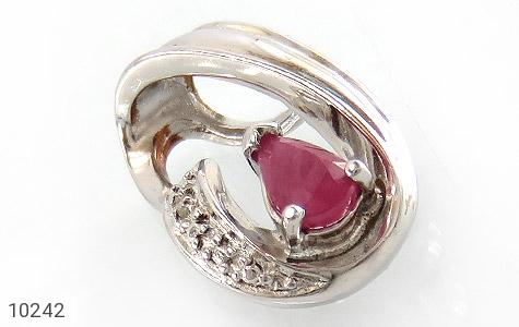 مدال الماس و یاقوت سرخ طرح گیتی زنانه - عکس 1