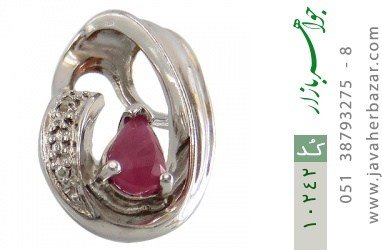 مدال الماس و یاقوت سرخ طرح گیتی زنانه - کد 10242
