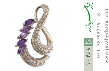 مدال آمتیست و الماس درخشان زنانه - کد 10248