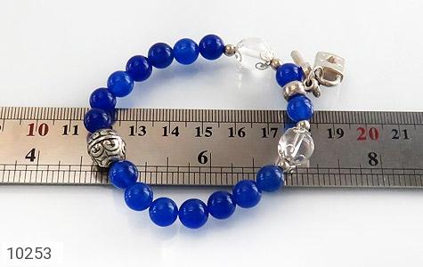دستبند جید آبی طرح قفل و کلید زنانه - تصویر 6