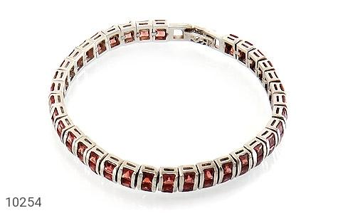 دستبند یاقوت گارنت خوش رنگ مرغوب زنانه - عکس 1