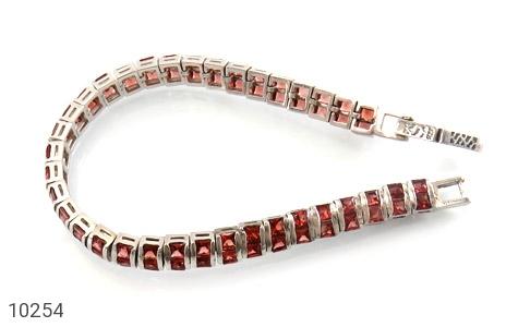 دستبند یاقوت گارنت خوش رنگ مرغوب زنانه - تصویر 2