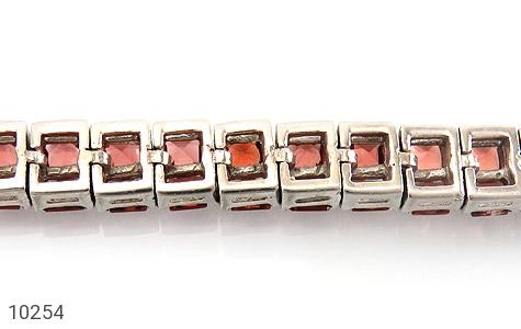 دستبند یاقوت گارنت خوش رنگ مرغوب زنانه - عکس 3